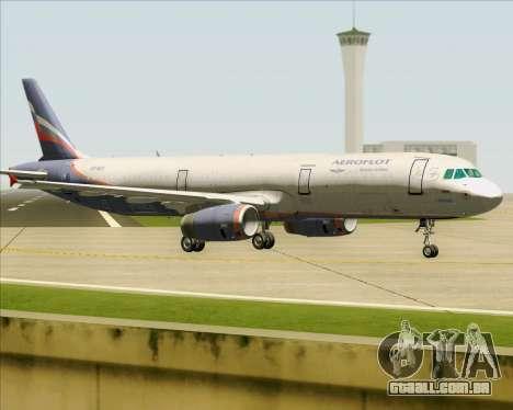 Airbus A321-200 Aeroflot - Russian Airlines para GTA San Andreas vista direita