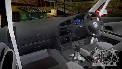 Mitsubishi Lancer Evolution VI Rally Marlboro para GTA 4 vista de volta