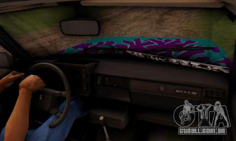 VAZ 2107 Chama Azul para GTA San Andreas vista direita