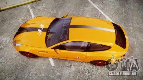 Ferrari FF 2012 Pininfarina Yellow para GTA 4 vista direita