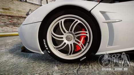 Pagani Huayra 2013 [RIV] Carbon para GTA 4 vista de volta