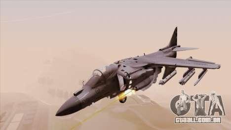 EMB AV-8 Harrier II USA NAVY para GTA San Andreas traseira esquerda vista