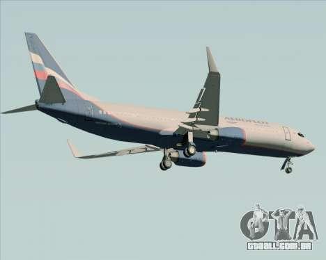 Boeing 737-8LJ Aeroflot - Russian Airlines para GTA San Andreas vista traseira