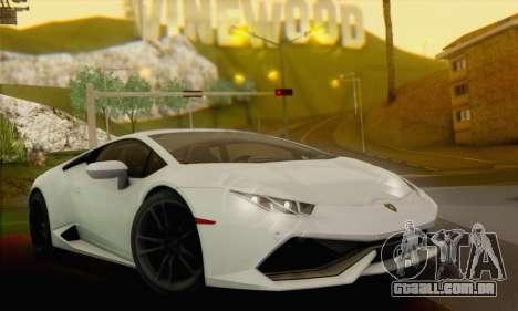 Lamborghini Huracan 2014 para GTA San Andreas