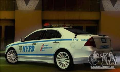 Ford Fusion NYPD v2.0 para GTA San Andreas esquerda vista