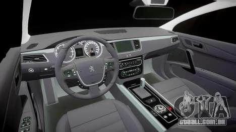 Peugeot 508 v1.2 para GTA 4 vista interior