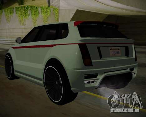 Huntley S para GTA San Andreas esquerda vista