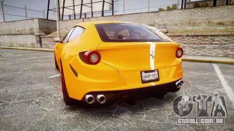 Ferrari FF 2012 Pininfarina Yellow para GTA 4 traseira esquerda vista