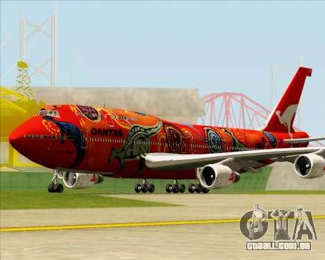 Boeing 747-400ER Qantas (Wunala Dreaming) para GTA San Andreas esquerda vista