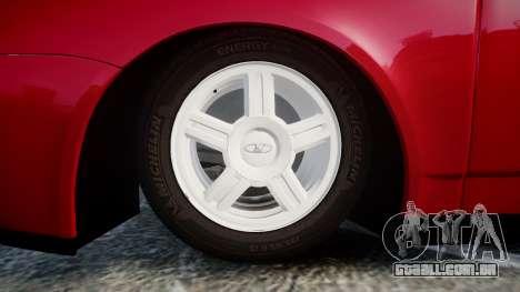 VAZ-2170 Priora rodas de liga leve para GTA 4 vista de volta