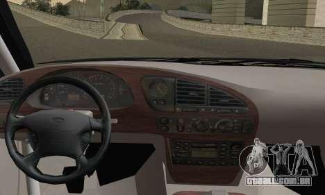 Ford Sierra Scorpion 4x4 RS Cosworth para GTA San Andreas traseira esquerda vista