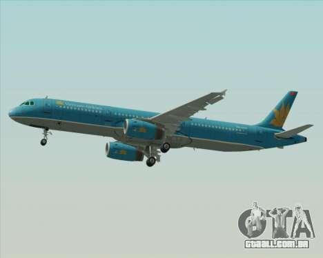 Airbus A321-200 Vietnam Airlines para vista lateral GTA San Andreas