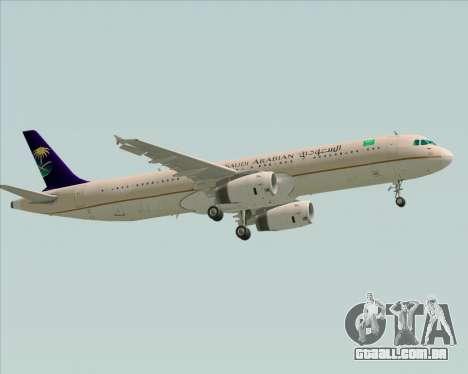Airbus A321-200 Saudi Arabian Airlines para GTA San Andreas vista traseira