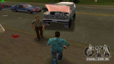 Ford Bronco 1985 para GTA Vice City vista traseira