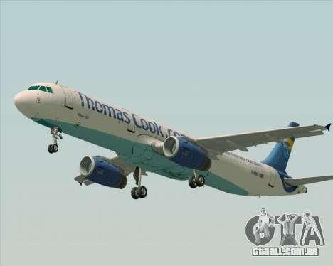 Airbus A321-200 Thomas Cook Airlines para GTA San Andreas vista interior