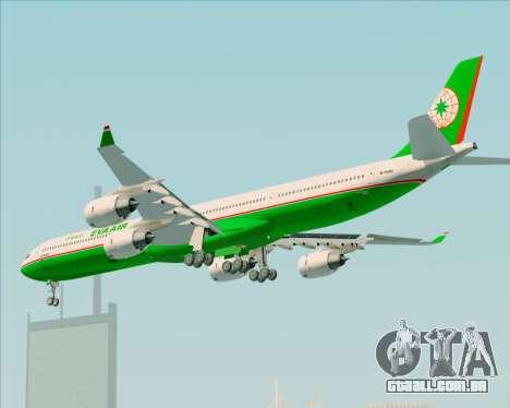 Airbus A340-600 EVA Air para GTA San Andreas vista traseira