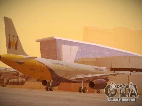 Airbus A321-232 Monarch Airlines para GTA San Andreas vista direita