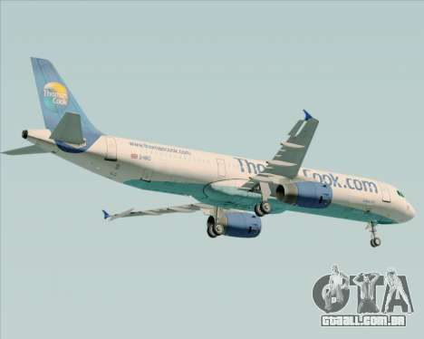 Airbus A321-200 Thomas Cook Airlines para GTA San Andreas vista traseira
