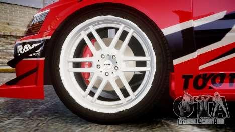 Mitsubishi Lancer Evolution IX Fast and Furious para GTA 4 vista de volta