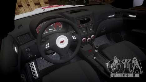 Subaru Impreza Cosworth STI CS400 2010 Custom para GTA 4 vista de volta