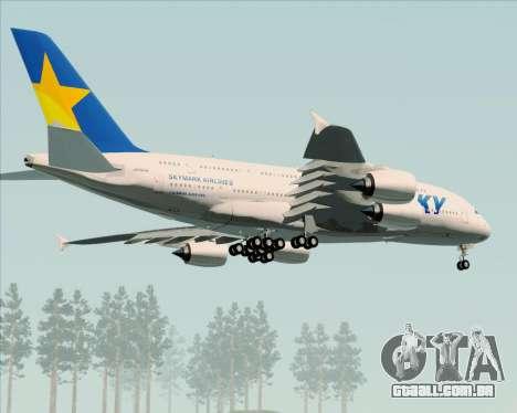 Airbus A380-800 Skymark Airlines para GTA San Andreas vista interior