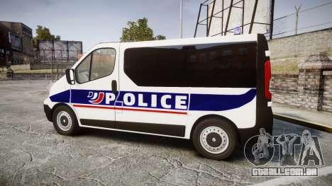 Renault Trafic Police Nationale para GTA 4 esquerda vista