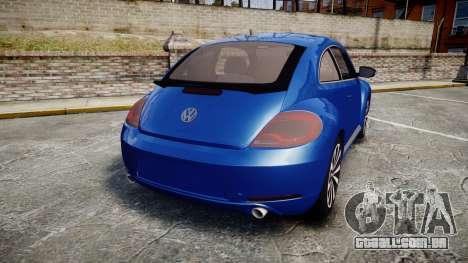 Volkswagen Beetle A5 Fusca para GTA 4 traseira esquerda vista