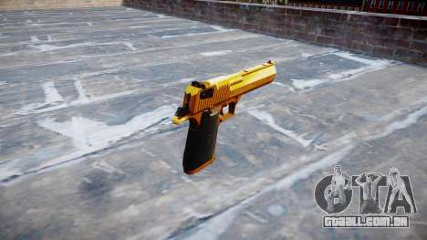 Arma de IMI Desert Eagle Mk XIX Ouro para GTA 4 segundo screenshot