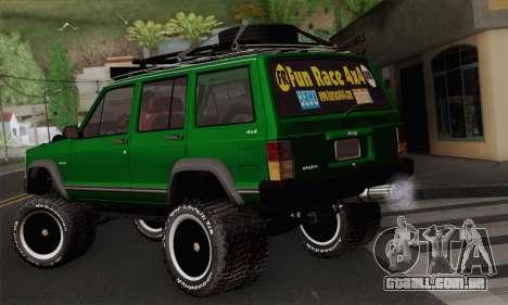 Jeep Cherokee 1998 Off Road 4x4 para GTA San Andreas esquerda vista