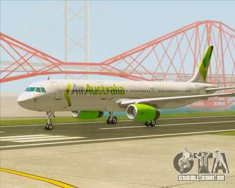 Airbus A321-200 Air Australia para GTA San Andreas esquerda vista