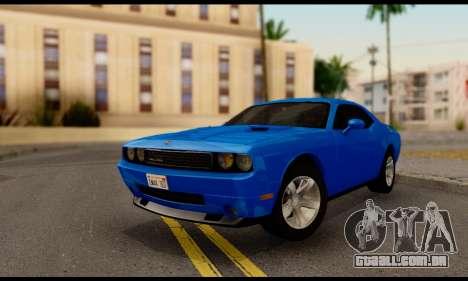 Dodge Challenger SXT Plus 2013 para GTA San Andreas