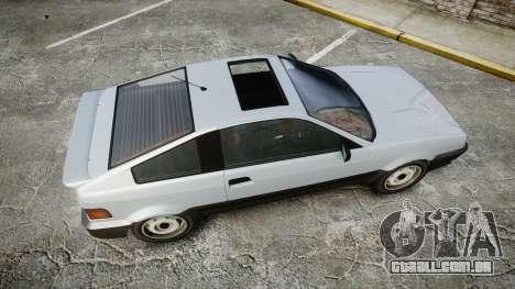 Dinka Blista Compact GPX para GTA 4 vista direita