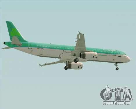 Airbus A321-200 Aer Lingus para GTA San Andreas vista superior