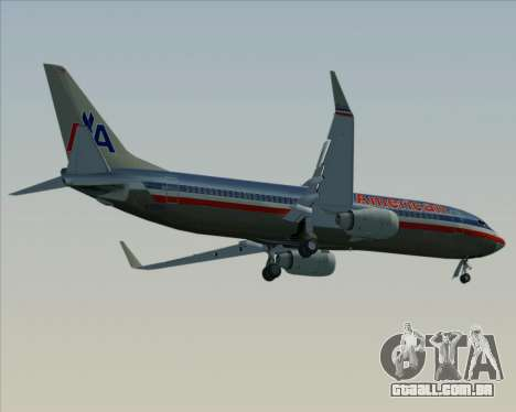 Boeing 737-800 American Airlines para o motor de GTA San Andreas