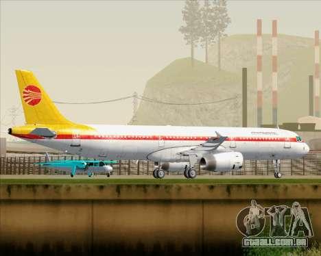Airbus A321-200 Continental Airlines para as rodas de GTA San Andreas