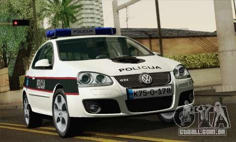 Volkswagen Golf V para GTA San Andreas
