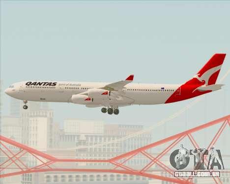 Airbus A340-300 Qantas para GTA San Andreas vista superior