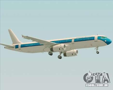 Airbus A321-200 American Pacific Airways para GTA San Andreas vista inferior
