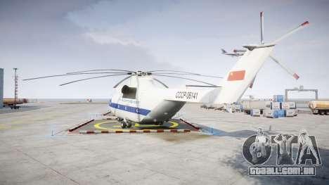 Mi-26 para GTA 4 traseira esquerda vista