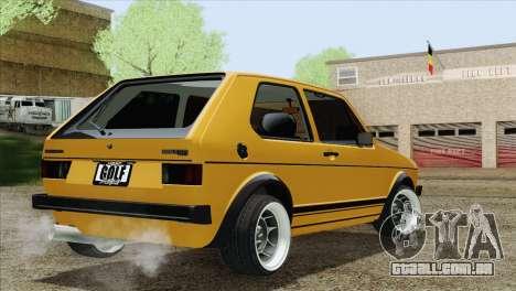 Volkswagen Golf MK1 GTI para GTA San Andreas esquerda vista