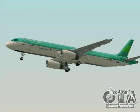 Airbus A321-200 Aer Lingus para o motor de GTA San Andreas