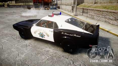 Shelby GT500 428CJ CobraJet 1969 Police para GTA 4 esquerda vista