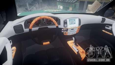 Toyota Land Cruiser Guardia Civil Cops [ELS] para GTA 4 vista de volta