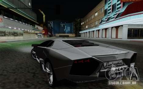 Lamborghini Reventon 2008 para GTA San Andreas esquerda vista