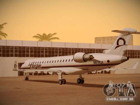 Bombardier CRJ-700 Horizon Air para GTA San Andreas vista inferior