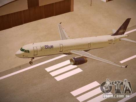 Airbus A321-232 jetBlue Batty Blue para GTA San Andreas vista superior