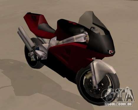 NRG-500 Winged Edition V.1 para GTA San Andreas vista traseira