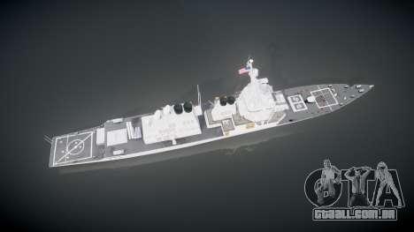 US Navy Destroyer Arleigh Burke para GTA 4 vista direita