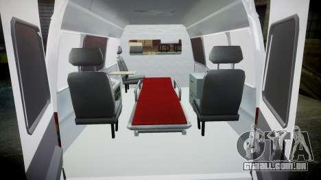 GÁS-32214 Ambulância para GTA 4 vista interior