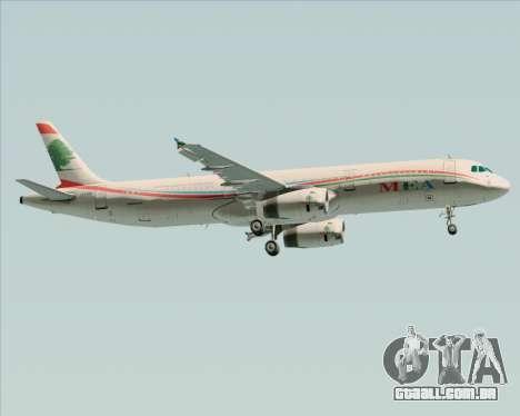 Airbus A321-200 Middle East Airlines (MEA) para GTA San Andreas vista direita
